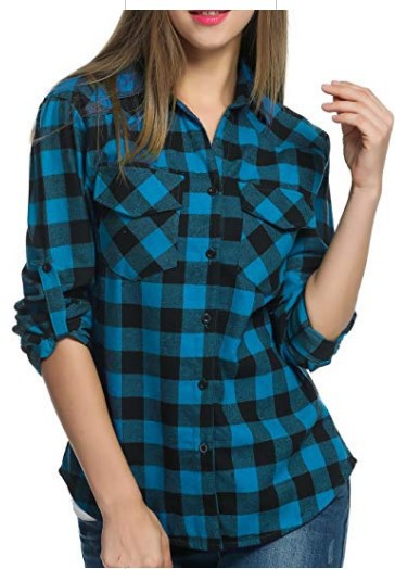 women blouse   female womens top winter fall plaid cool shirt ladies  festivals classics comfort elegance clothing top