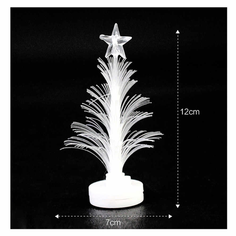 Christmas LED Color Changing Mini Xmas Tree Home Table Party DIY Gifts A0L3