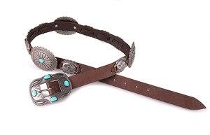 Image 3 - Fashion PU leather belt Wild cowboy belt Western Buckle style hip hop rock Jeans strap metal big buckle belt BL516