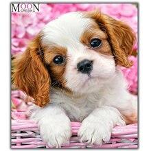 5d diy Алмазная картина белая собака Милая мозаика полностью