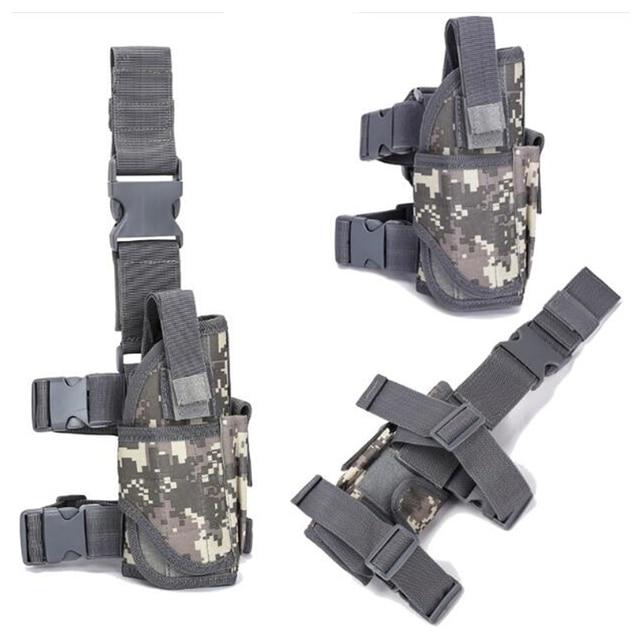 Drop Left/Right Leg Gun Holster gun bag for GLOCK 17/M9/P226/CZ 75 Revolver Leg Adjustable Airsoft Pistol Gun Case For Hunting 6