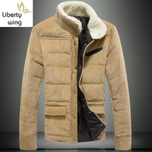 Halloween Warm Winter Men corduroy wadded jacket Outwear Fur Collar Cotton Padded Coats Jackets jaqueta masculina Plus Size(China)