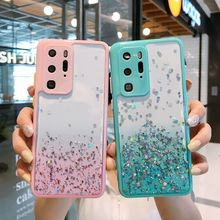 For Xiaomi POCO X3 NFC X3 Pro Case Hard Transparent Gradient glitter protective Back Cover Case For Xiaomi POCO F3 M3 X3PRO