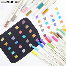 EZONE 20pcs 20 Colors Acrylic Paint Marker Pens Set Painting Art Marker Highlighters for DIY Drawing