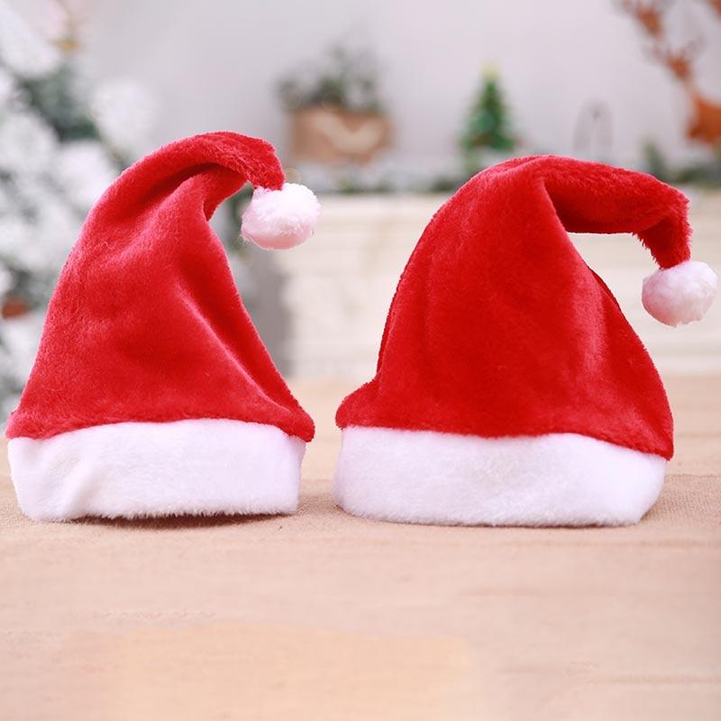 New Arrival Christmas Hats Caps Santa Claus Xmas Cotton Cap Christmas Gift New Year Cap Merry Christmas Decoration