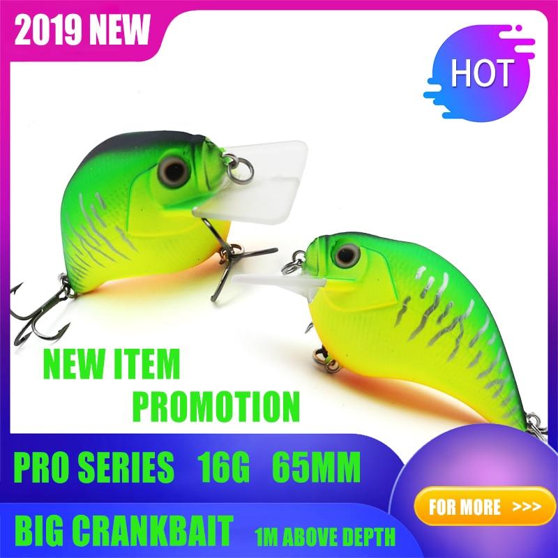 Thritop 2019 New Wobbler Fishing Bait TP101 High Quality 16g 65mm Hard Lure Artificial Bait Pike Fishing Carp Tackle Crankbait