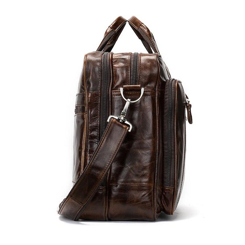 WESTAL sac pour hommes/porte-documents en cuir pochette d'ordinateur pour hommes en cuir véritable sac de bureau pour document voyage d'affaires sacs de voyage 7320 - 5
