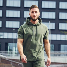 Мужские толстовки осенняя одежда худи для фитнеса мужской пуловер