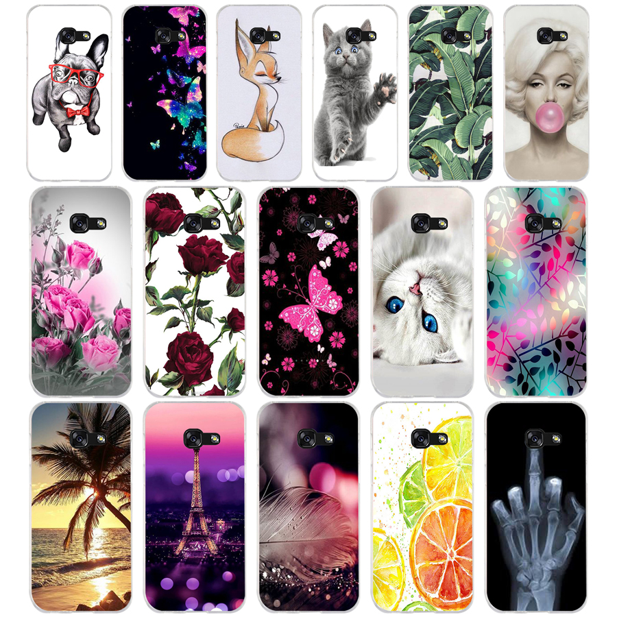 16 silicone For Samsung A5 <font><b>2017</b></font> 2016 A50 Case Soft TPU Phone Case for Samsung Galaxy A <font><b>5</b></font> <font><b>2017</b></font> Cover Coque Funda Skin shockproof image