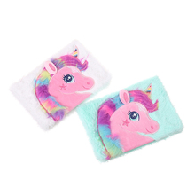 Student School Unicorn Lined Notebook Kawaii Weekly Planner Cartoon Fur Diary Book Hardcover Notepad Lovely Stationery Diary