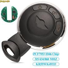 jingyuqin Smart Remote Key KR55WK49333 PCF7953 ID46 Chip For BMW MINI COOPER S ONE D