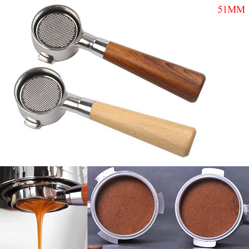 Coffee Bottomless Portafilter For Filter 51MM Replacement Filter Basket Coffee Accessories