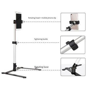 Image 4 - צילום מתכוונן שולחן למעלה Stand סט מיני חדרגל + טלפון קליפ למלא אור שליטת Bluetooth