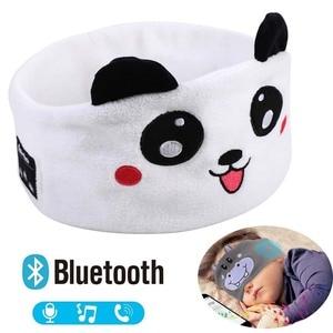 Image 1 - JINSERTA Cute Kid Bluetooth Headphone Sleep Mask Bluetooth 5.0 Stereo Music Player Support Handsfree Soft Headband for Phone