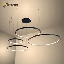 2020 Modern led pendent Lights aluminum circle lights for Interior design engineering lighting Line hang LED ring pendent  lamp