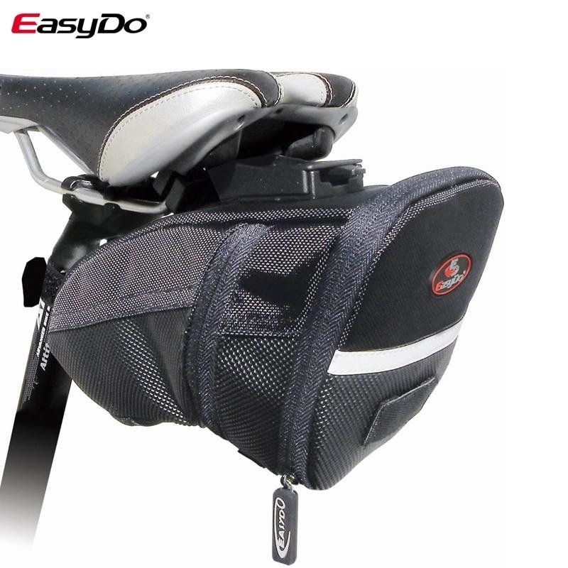 Cycling Saddle Rear Bag Pannier Waterproof Seat Storage Bag w// Reflective Strip