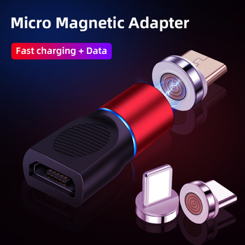 3A Magnetic Micro USB Fast Charging Adapter Micro USB Female To Male Converter For IPhone Xiaomi Redmi HUAWEI SAMSUNG S7 S6 Edge