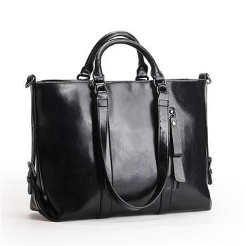 Nesitu Highend A4 Large Big Black Red Blue Brown Split Leather Office Women Handbag Female Shoulder Messenger Bag Tote M6178