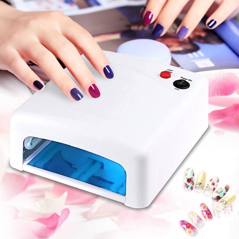 36W 110V LED Lamp Nail Gel Polish Dryer UV LED Gel Nail Polish Curing Lamp Manicure Nail Art Timer Nail DIY Salon Dryer