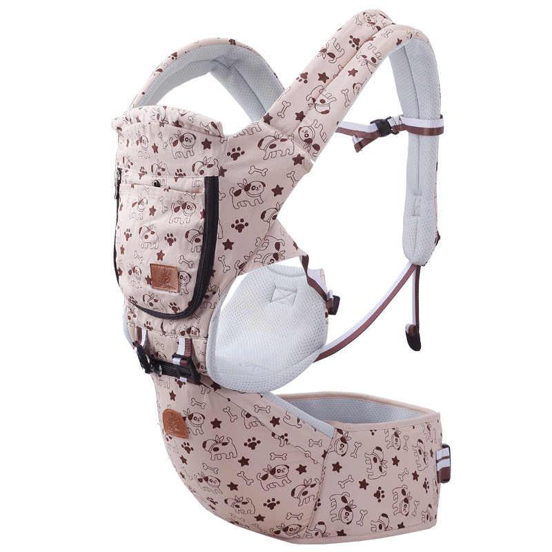 Gabesy algodón multifunción portabebés para bebés de 0 a 3 años transpirable 3 en 1 cadera para bebé asiento con bolsa de almacenamiento