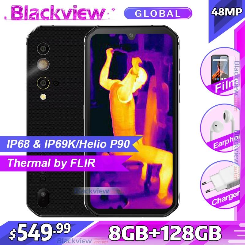 Blackview BV9900 Pro Thermische Camera Smartphone IP68 Waterdichte 8Gb 128Gb Helio P90 Octa Core Robuuste Quad Camera Mobiele telefoon