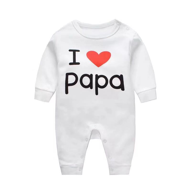 Funny Baby Infants Babygrow Romper Jumpsuit I Heart Love My Dad