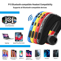 Auriculares P13 de negocios con Bluetooth con gancho para la oreja, cascos inalámbricos con micrófono, manos libres, deportivos, Larga modo de reposo