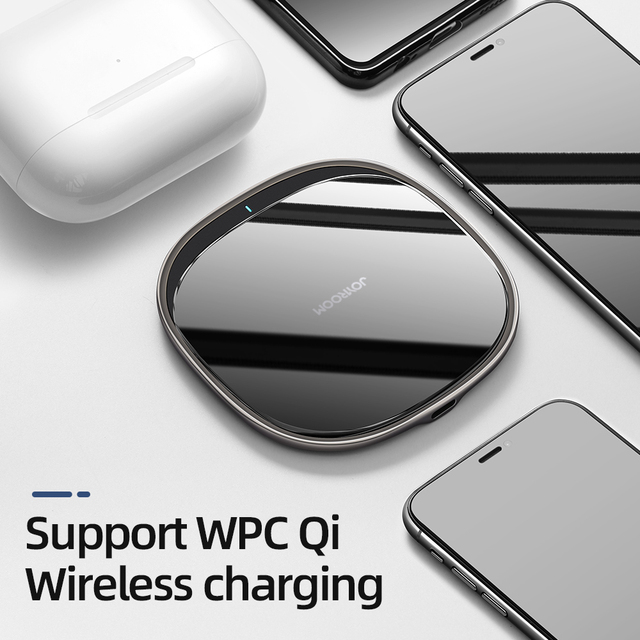 Joyroom 15W Qi Wireless Charger For iPhone Airpods Pro Quick Wireless Fast Charging Pad Phone Charger for for Samsung S20 Huawei