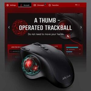 Image 2 - Gelée peigne Bluetooth Trackball souris Rechargeable 2.4G USB sans fil et Bluetooth souris ergonomiques pour ordinateur portable tablette PC Mac Android