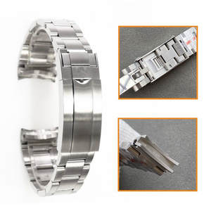 Brushed Bracelet-Strap Gmt Watch Rlx Stainless-Steel Rollex Noob Zzf-Vr-Factory 20mm904l
