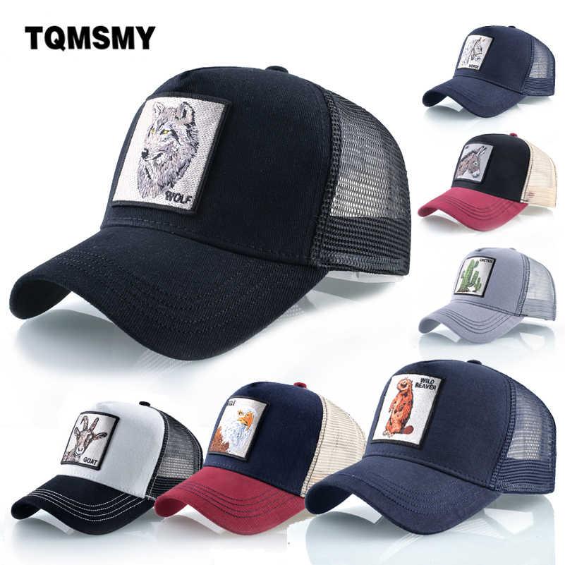 Unisexฝ้ายSnapbackหมวกสำหรับชายเย็บปักถักร้อยหมาป่าเบสบอลหมวกผู้หญิงBreathableตาข่ายTruckerกระดูกRooster Hip Hopหมวก