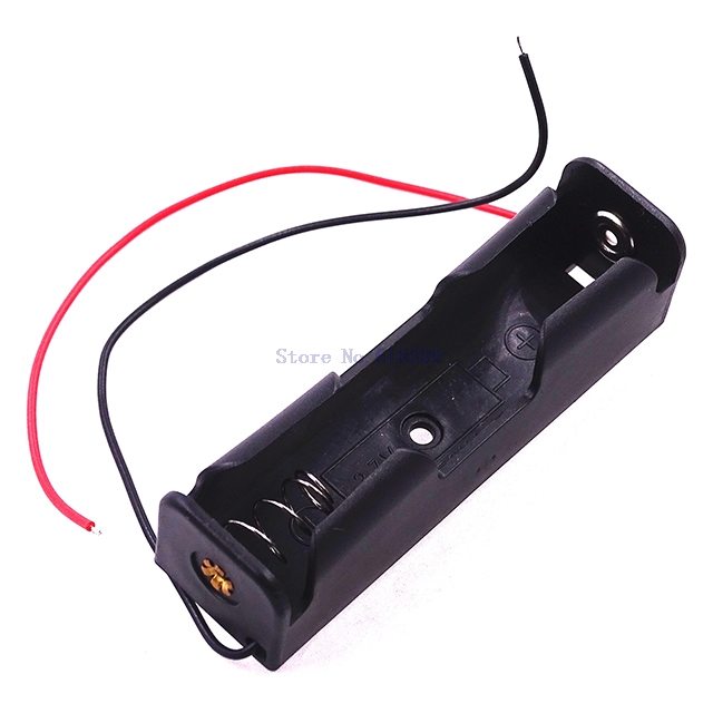 A5-- 16850 Battery Case Storage Box Case Plastic Holder With Wire Leads 1 x 18650 Batteries Soldering
