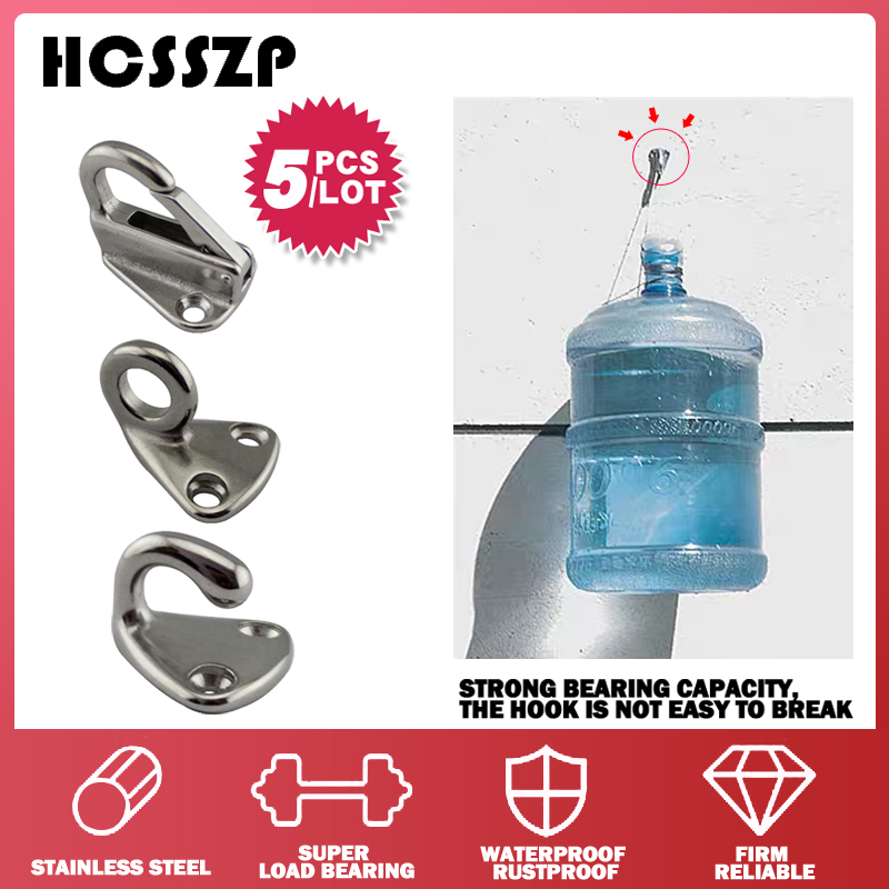 5 Pcs/lot 316 Stainless Steel Spring Locked Fender Hooks Snap Fending Hook Attach Rope Boat Sail Tug Ship Marine Hardware-in Marine Hardware from Automobiles & Motorcycles