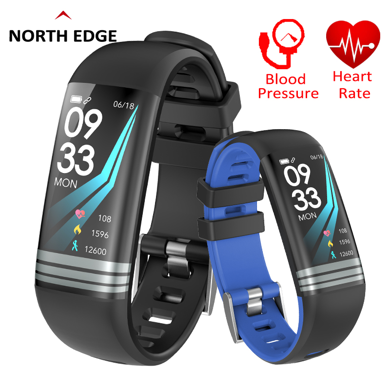 NORTH EDGE Smart Bracelet Watches Blood Pressure Fitness Tracker Blood Oxygen Heart Rate Monitor Pedometer Digital Wristwatches