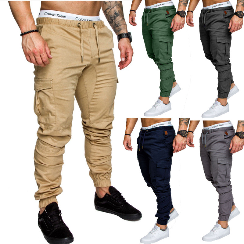 Origional Hot Selling 2018 Spring Workwear Multi-pockets Trousers Men's Casual Pants Ankle Banded Pants