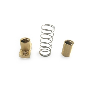 CNC 3018 Exclusive 3D Printer Parts T8 Anti Backlash Spring Loaded Nut Elimination Space Nut for 10mm t8 lead screw 3d printer parts 250 300 350 400 500 mm leadscrew parts 8mm trapezoidal rods nuts screws coppe for reprair parts