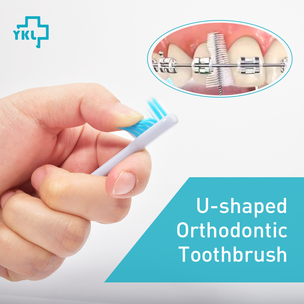 Beauty & Health ... Oral Hygiene ... 32812093934 ... 2 ... 2018 New Arrival Y-kelin U-shaped Orthodontic Toothbrush Soft Bristle orthodontia teeth brush brace  toothbrush small head ...