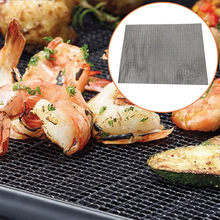Non-stick Bbq Grill Mesh Mat Outdoor Barbecue Netto Anti-aanbak Roestvrij Staal Food Grade Hittebestendige Non-stok(China)