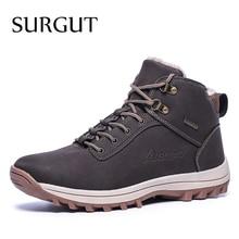 SURGUT 2021 moda zimowe buty śniegowe dla mężczyzn męskie obuwie wysokiej jakości, dla dorosłych gumowe wysokie góry Super ciepłe pluszowe ciepłe botki