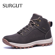 Surego 2021 موضة الشتاء الثلوج أحذية للرجال الذكور حذاء كاجوال جودة الكبار المطاط عالية الجودة سوبر الدافئة أفخم الدافئة حذاء من الجلد