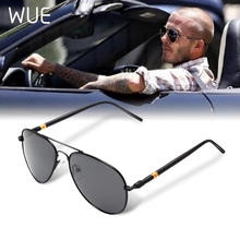 WUE Aviation Metail Frame Quality Oversized Spring Alloy Men Sunglasses