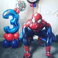 Big 3D Marvel Spiderman Iron Man balon foliowy dekoracja na przyjęcie z okazji urodzin zabawka dla dzieci Baby Shower Kids Air Globos