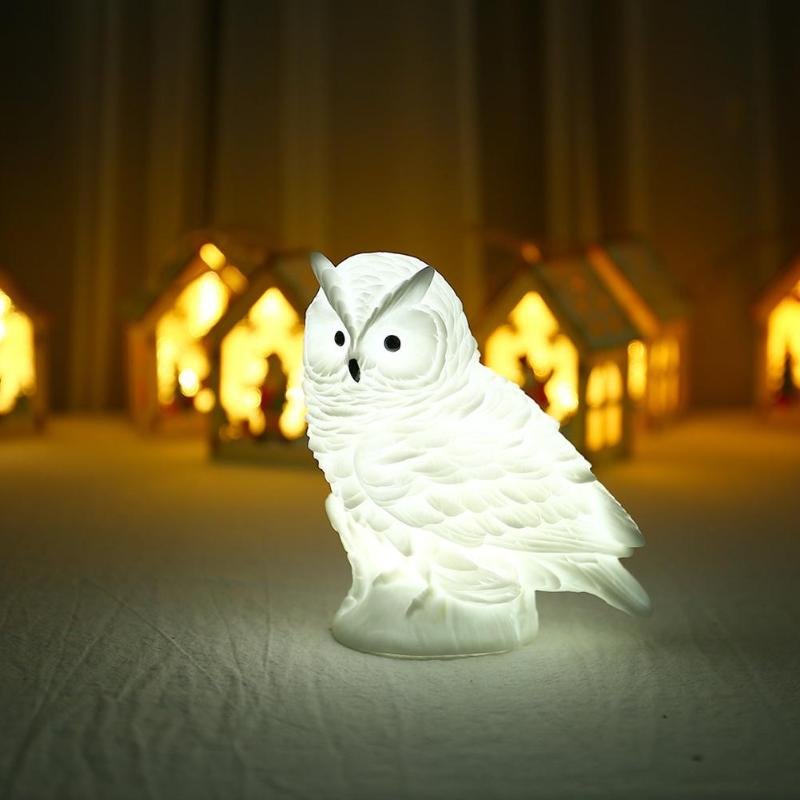 New Owl Shape LED Night Lights Enamel Cute Expression Correct Confession Battery Operated Living Room Home Child Bedroom Decor