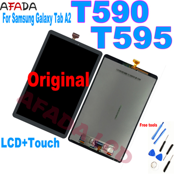 10.5''For Samsung Galaxy Tab A2 T590 T595 SM-T595 SM-T590 LCD Display Panel Screen Monitor Touch Screen Full Assembly Replacemen 10 5 inch 2018 hd lcd display panel screen monitor touch screen assembly for samsung galaxy tab a2 t595 sm t595