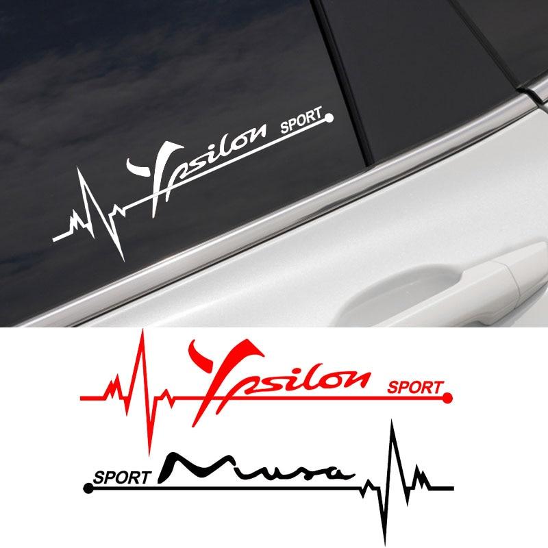 2 pçs adesivos de carro janela lateral legal decalques para lancia musa ypsilon delta