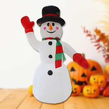 2.4M Height Snowman Christmas Inflatable Light for Outdoor Party Home Decoration Christmas Blower Party Light Supplies