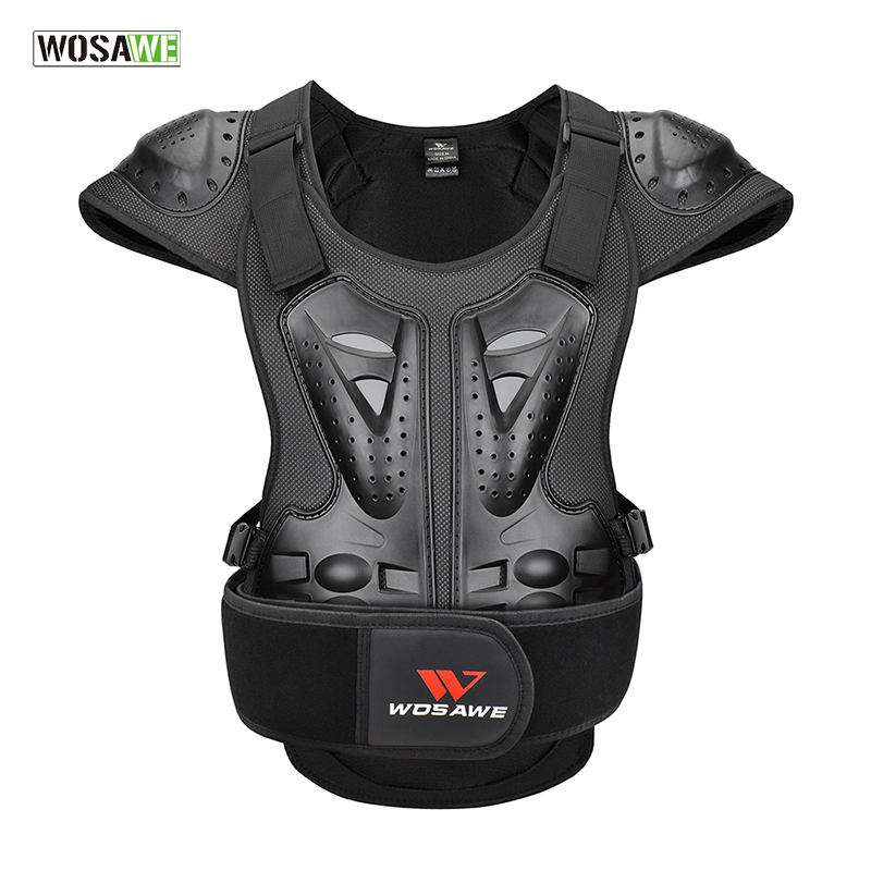 WOSAWE Motorcycle Armor Vest Adult Motorcycle Skiing Jacket Sleeveless Racing Chest Protector Spine Guards Body Top Armor