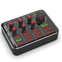 Microphone-Mixer Audio-Effects-Interface Sound-Card Podcaster Computer Digital Rechargeable