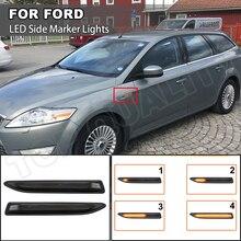 สำหรับ Ford Mondeo Mk4 Hatchback/Saloon/Estate (BA7) 2007 2015 Dynamic Repeater LED Side Marker ไฟเลี้ยวสัญญาณรถจัดแต่งทรงผม