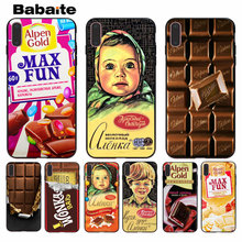Babaite alenka bar wonka chocolate Smart Cover Black Soft Shell Phone Case for Apple iPhone 8 7 6 6S Plus X XS MAX 5 5S SE XR(China)
